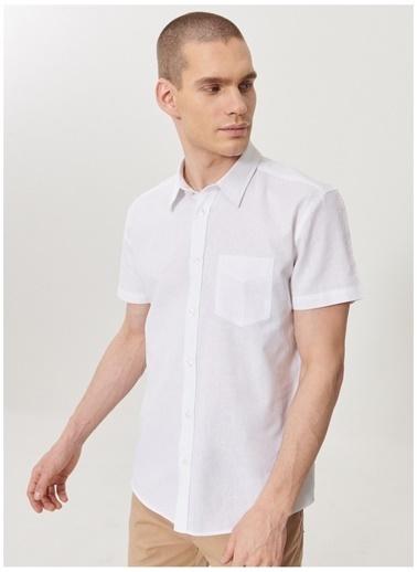 Wrangler Wrangler W5J7LO989_Kısa Kollu Gömlek  Beyaz